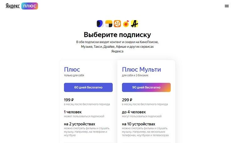 Яндекс Плюс акции