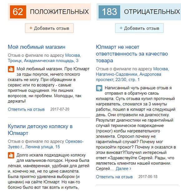Отзывы об интернет-магазине Ulmart.ru