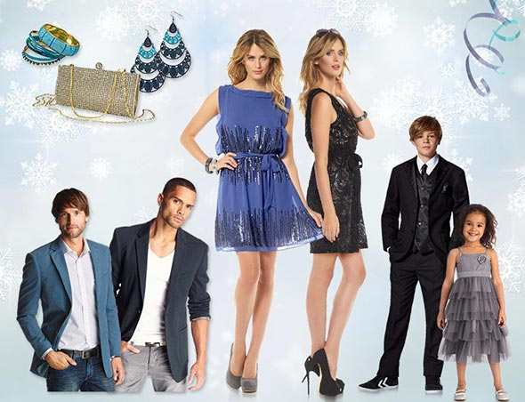 Скидки на платья для Нового года и мужские костюмы в ОТТО